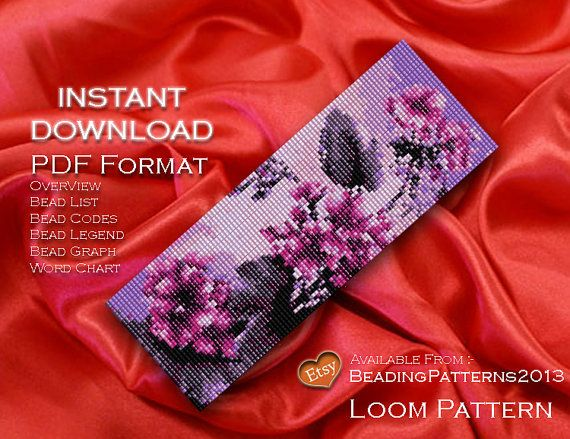 Loom Pattern - Beading Patterns - Loom Bracelet - Delica - Bead Pattern (Please ignore these words they are to just assist searching)