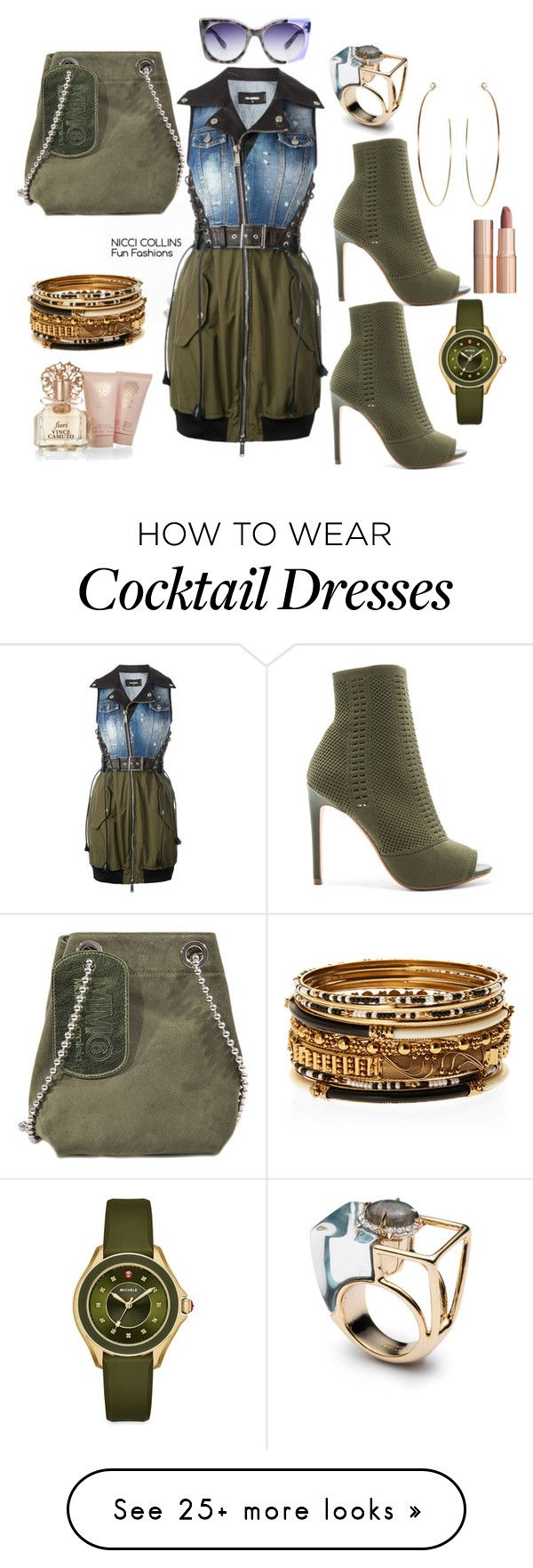 """Fun Fashion"" by niccicollins on Polyvore featuring Dsquared2, Steve Madden, Maison Margiela, Amrita Singh, Michele, Vince Camuto and Charlotte Tilbury"
