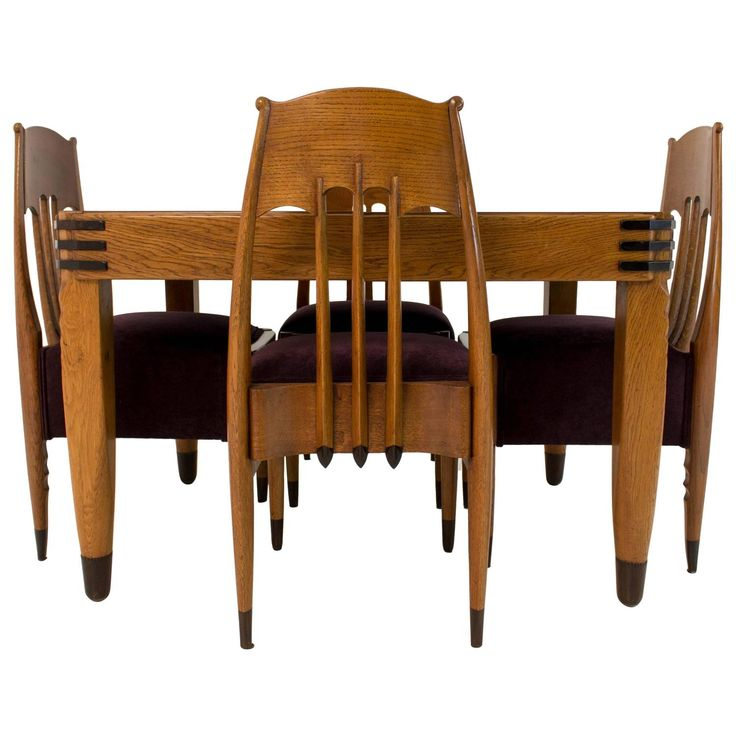 Amsterdam School Set of Table, Chairs and Tea Cabinet by Hildo Krop | 1stdibs.com