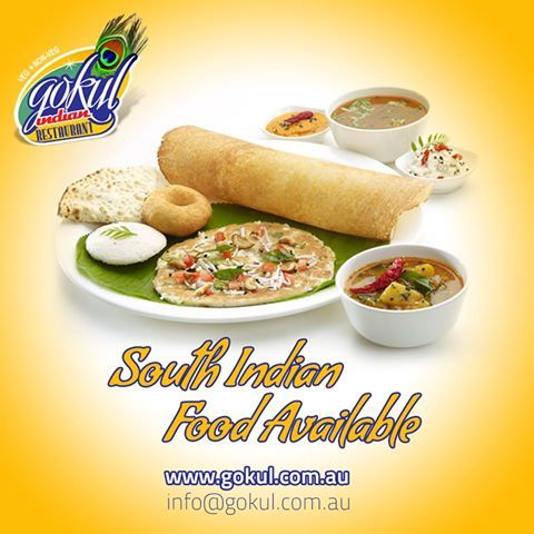 The South Indian food is currently available only in our Gokul Indian Restaurant. #Sydney #IndianRestaurant www.gokul.com.au