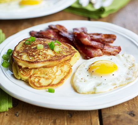 Potato & spring onion breakfast pancakes. Celebrate St Patrick's Day with this Irish-inspired breakfast, brunch or side dish, based on 'boxty', or potato cakes