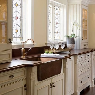 Bronze Farmhouse Sink : ... Sinks, Windows, Farms Sinks, Farmhouse Sinks, White Cabinets, Stained
