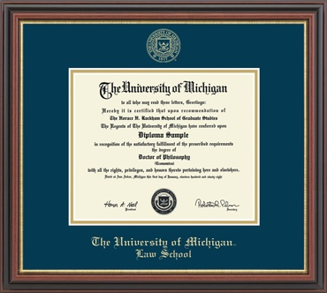 best graduate school specific program diploma frames images  university of michigan law school diploma frame embossed edition