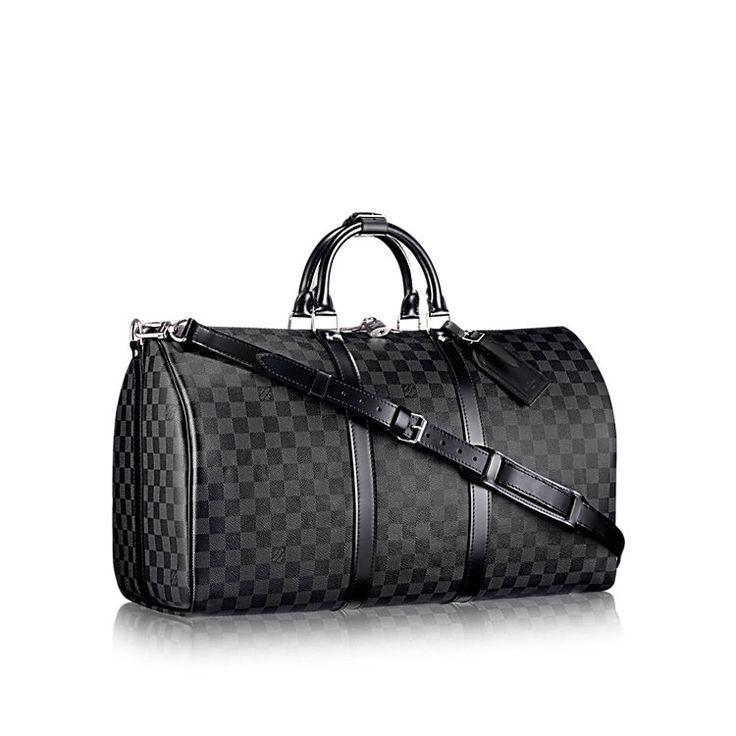 LOUISVUITTON.COM - Louis Vuitton Keepall 55 with Shoulder Strap (LG) DAMIER GRAPHITE Travel