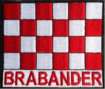 Bagde Brabander 100% geborduurde badge voorop jas of boerenkiel. 8cmØ