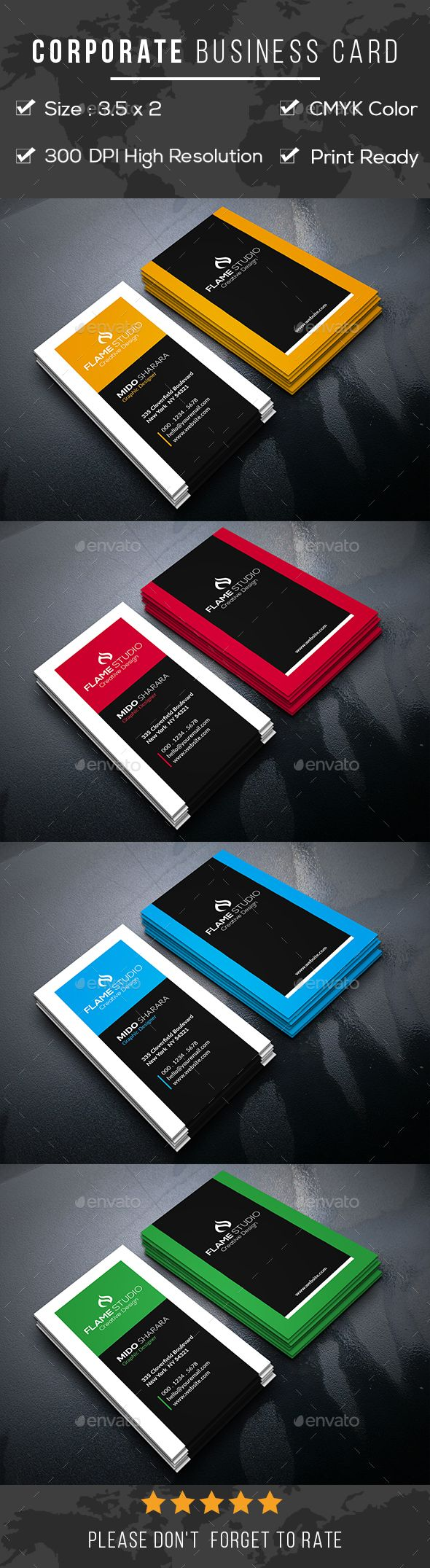 Corporate #Business #Card - Corporate Business Cards
