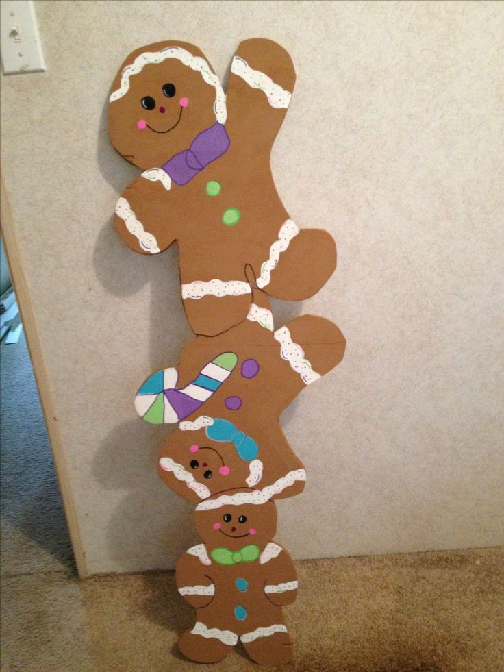 Gingerbread yard art