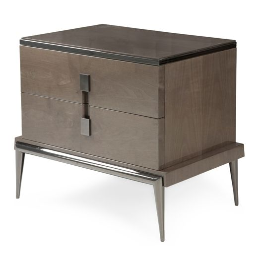 Seductive and charming, this grey nightstand is all you need to get romantic and elegant bedrooms | Discover more Nightstands Ideas: www.bocadolobo.com