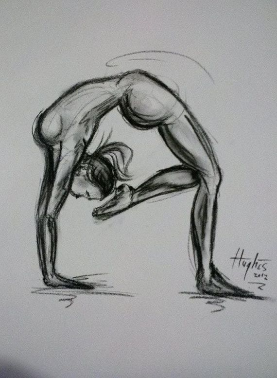 Drawing Yoga Pose Sketch Eyeviewnet Com