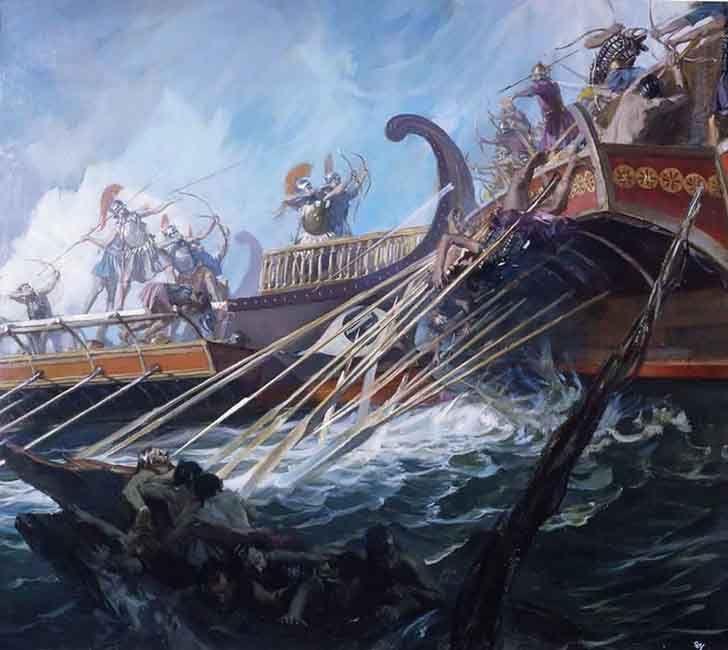 """""""Battle of Salamis""""- La Pintura y la Guerra. Sursumkorda in memoriam"""