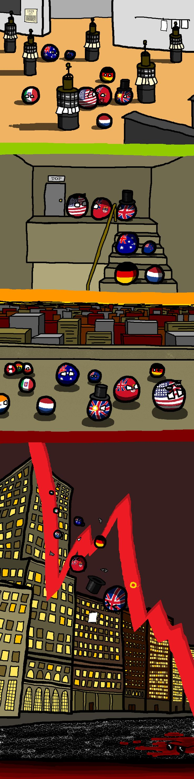 Polandball - the Great Depression