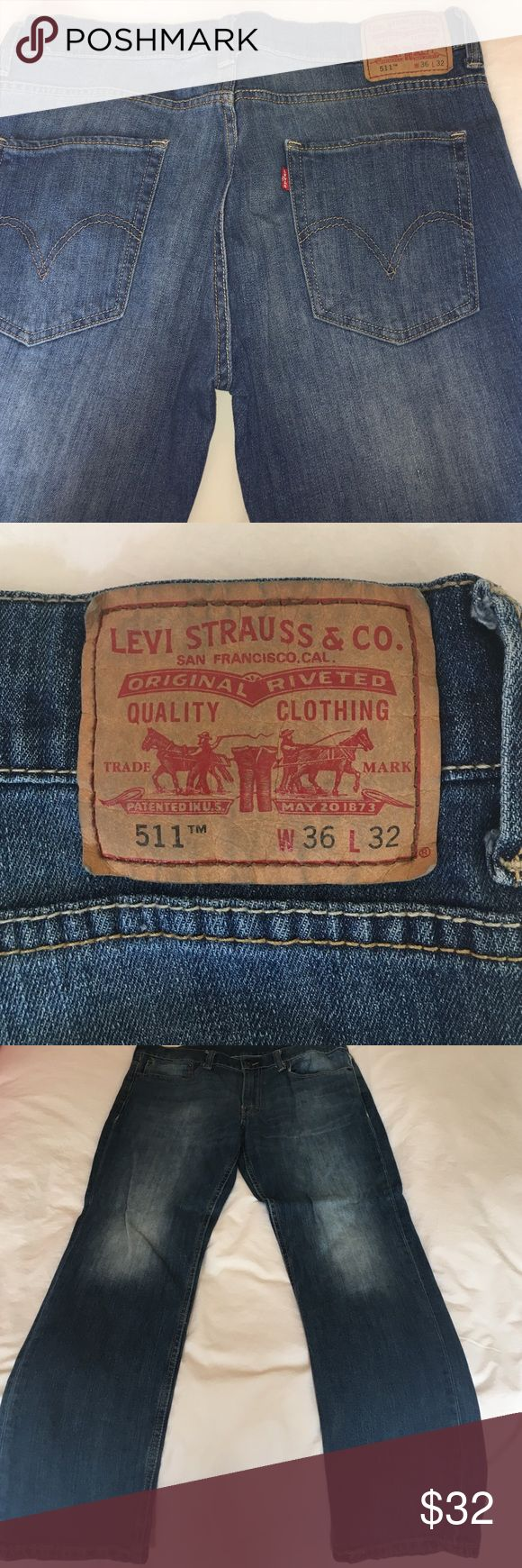 Lev's 511 jeans  Like new! Perfect condition. Zip and button closure. 511 skinny Levi's Jeans