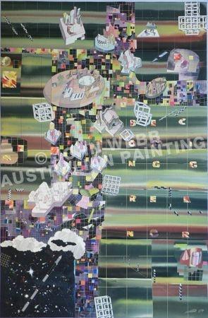 JOHN WEBB [Australia] Becoming Greener (2007) 155 x 102cm.