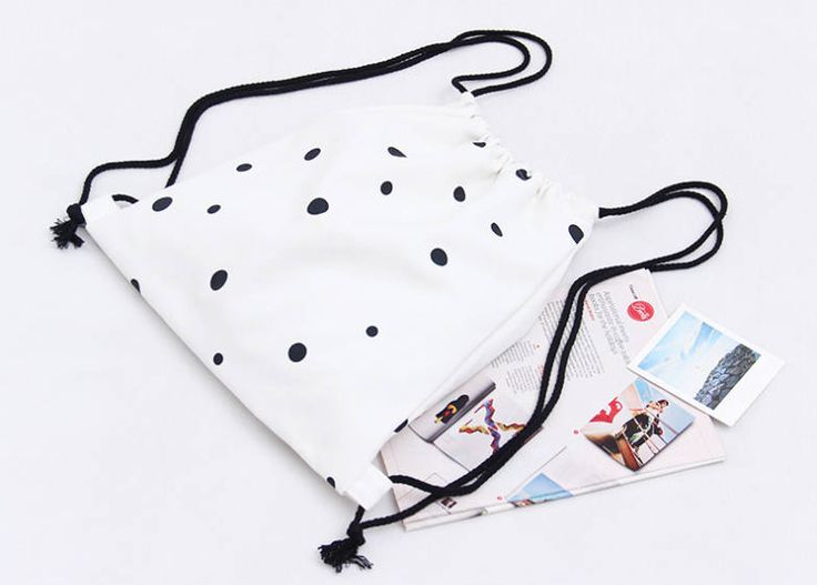 Polka Dots Draw String Bag by CherieExcellence on Etsy