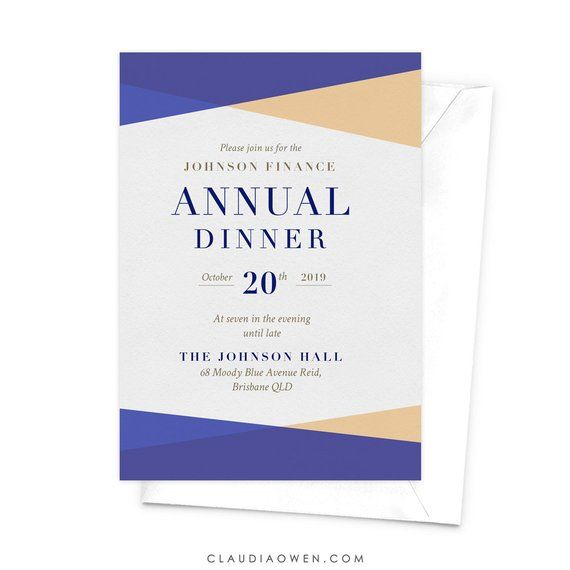 Annual Dinner Annual Client Appreciation Dinner Business Invitation