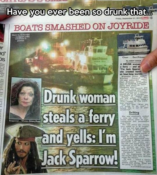 This Drunk Lady Thinks She's Jack Sparrow | Mega Memes LOL!... - 2funnys - http://2funnys.com/this-drunk-lady-thinks-shes-jack-sparrow-mega-memes-lol-2funnys/ - *, 2funnys, Drunk, Hilarious pic, Jack, Lady, LOL, Mega, Memes, Shes, Sparrow, Thinks