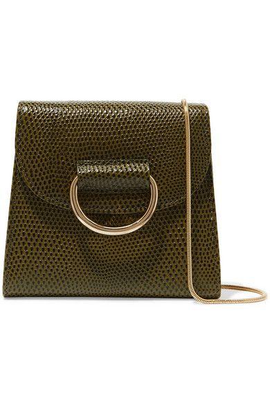 306171459 Little Liffner | D Tiny Box lizard-effect leather shoulder bag |  NET-A-PORTER.COM