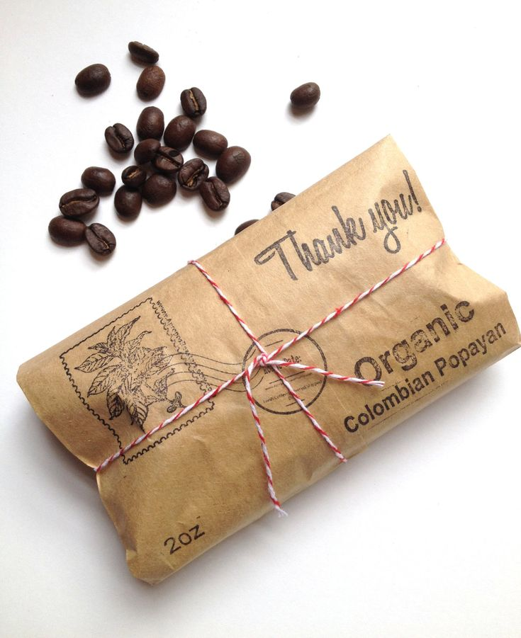 Organic Airmail Coffee Wedding Favors (set of  10) via #Etsy