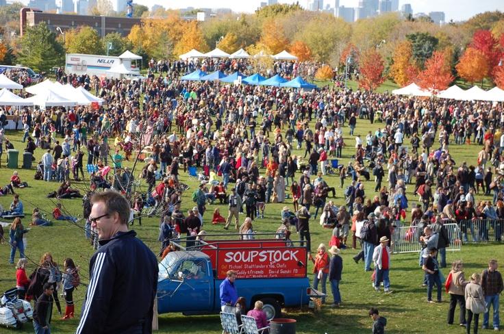 The crowd at Soupstock, Woodbine Park, Toronto, October 21.