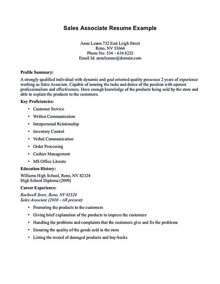 64 Best Resume Images On Pinterest Sample Resume Resume