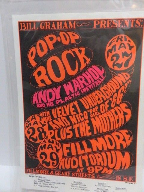 Bill Graham Presents Andy Warhol  1966 Fillmore Postcard