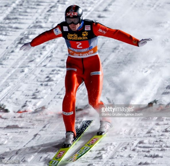 Anders Bardal of Norway skis during the FIS Ski Jumping World Cup Vierschanzentournee on December 30 2011 in Oberstdorf Germany