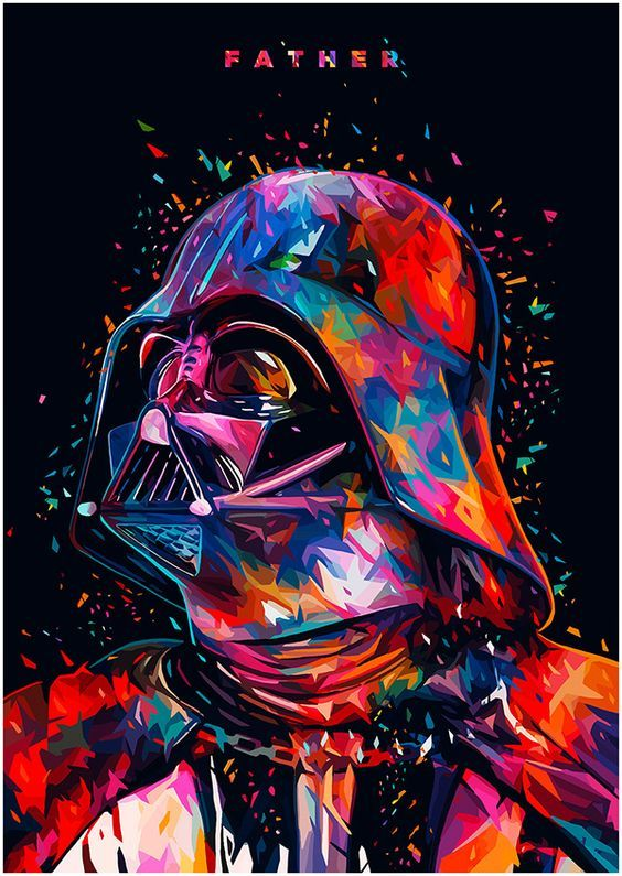 F A T H E R - Darth Vader portrait https://www.curioos.com/product/Print/father
