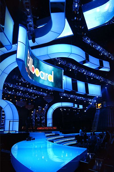 Stage design; curving shapes with lighting and technology; Brian Stonestreet Design