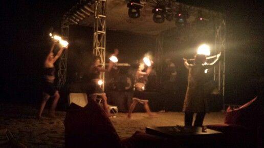 Firedancers, Seminyak beach, Bali