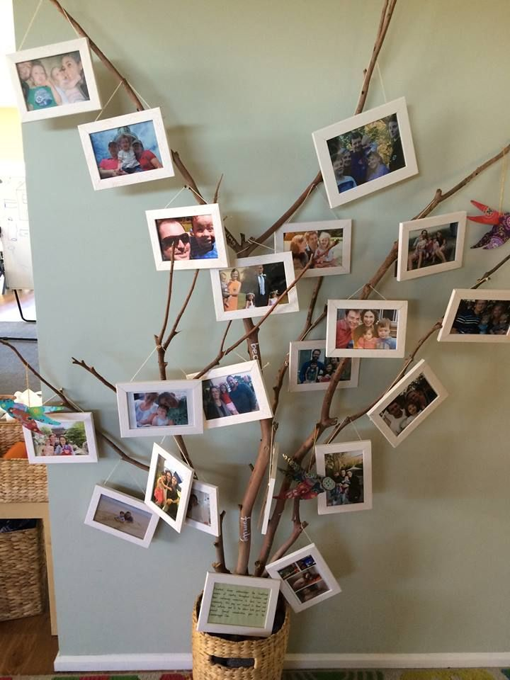 Displaying photos of children's family to embrace belonging.