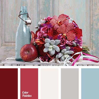 """dusty"" beige, ""dusty"" blue, beige, burgundy, color combination for a wedding, color of wine, decor colours for wedding, gentle wedding colors, gray, scarlet, shades of burgundy, shades of gray, spring color palette, wine color."