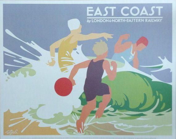 Tom Purvis East Coast by London & NorthEastern by MetroFramArt, $89.99