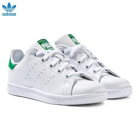 White and Green Stan Smith Trainers. adidas ...