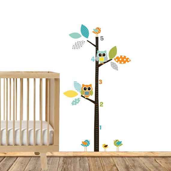 Modern Growth Charts, Boys Nursery Growth Charts, Vinyl Growth Charts, Vinyl Decals, Nursery Wall Decor, Wall Art Vinyl