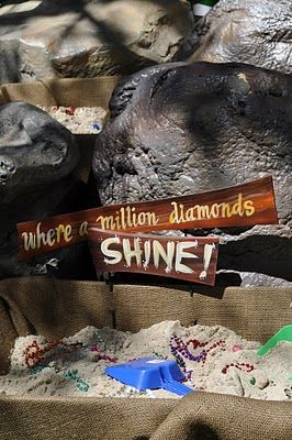 A diamond mine party activity for a Snow White theme.