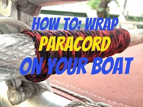How to Paracord Wrap your Fishing Net and Steering Wheel