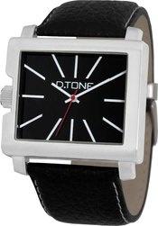 D.Tone heren horloge 10A  Trendy D.TONE heren horloge met zwart lederen band en zwarte wijzerplaat, mineraalglas, quartz uurwerk en een stalen kast. De achterplaat is nikkelvrij. € 34,95-