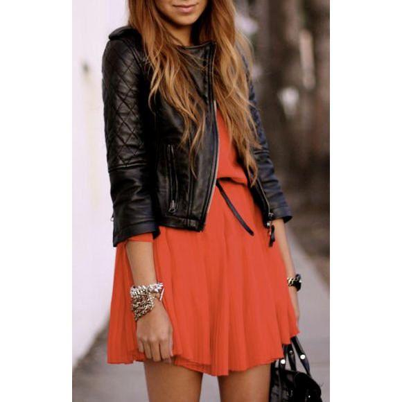 Les 25 meilleures id es concernant robe noire sur pinterest vestidos robes de cocktail et - Quelle couleur avec le orange vetement ...