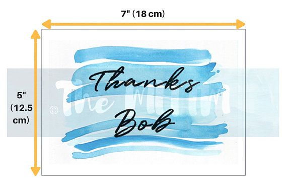Thank You Cards  Custom name  Greeting cards