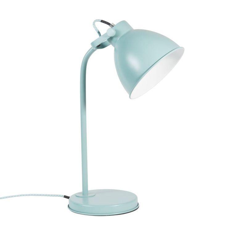 Lampe en métal bleu H 45 cm COLIN CHEVET