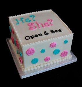 BUTTER CREAM BABYSHOWWER CAKES | Fun Baby Shower Trend: Gender Reveal Cakes