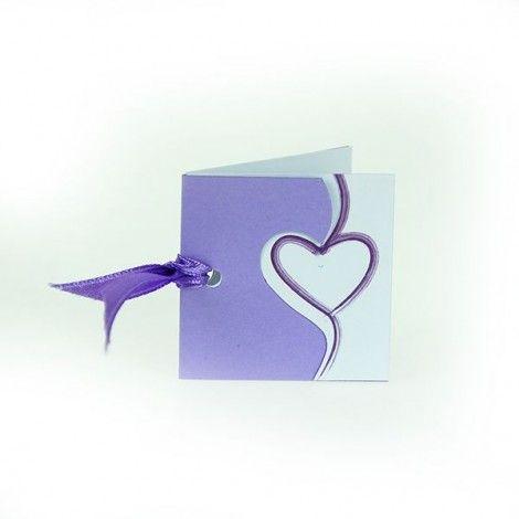 Etiqueta corazón púrpura (x12)