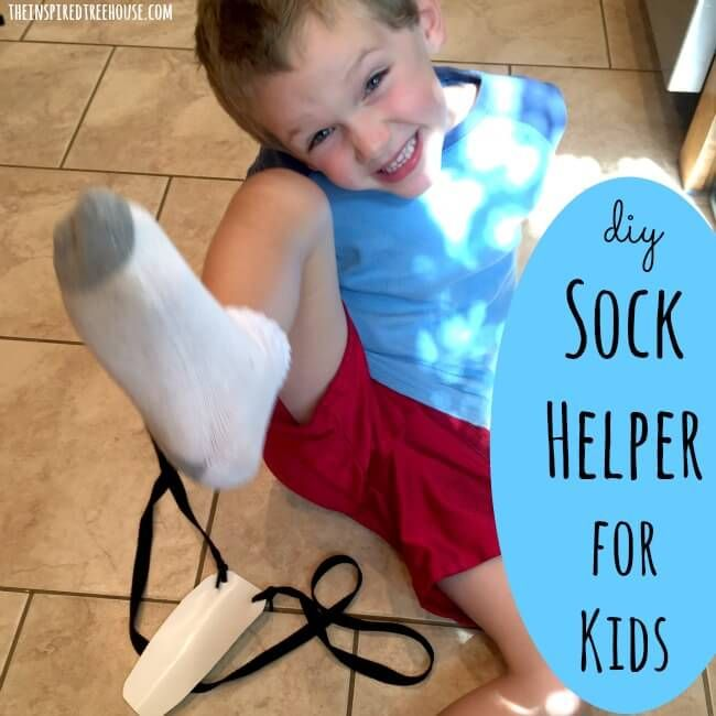 Love this DIY sock helper #OTLifehack from @inspiredtreehou!