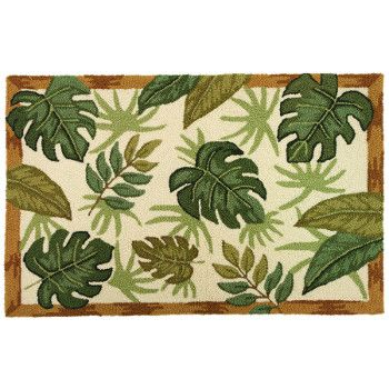 Great Tropical Themed Rug With Rich Colors And Palm Tree Leaves. Designed  By Jennifer Brinley
