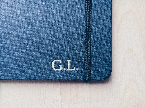 #notebook #engravednotebook #engraved #goldengraving #engravedinitials #shinola #shinoladetroit