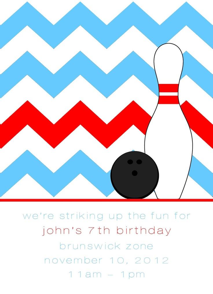 Bowling Party Invitation Digital Printable by DixieDelightsBlog, $10.00
