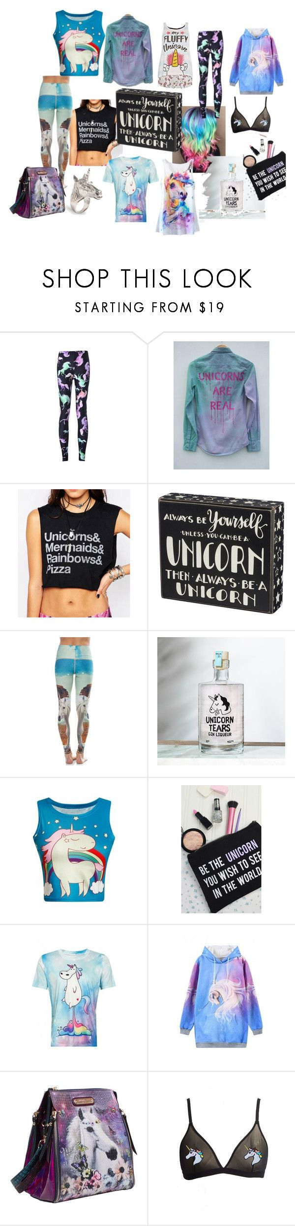 """Getting my Unicorn On"" by underwodt on Polyvore featuring teeki, WithChic, Rock On Ruby, LeiVanKash and Nicole Lee"