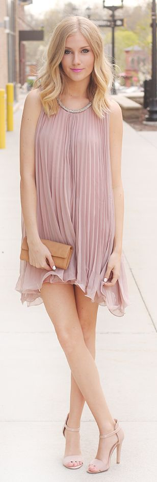 Allyssa Griffiths--- Little Pleated Dress,It's super light, airy, and the touch…