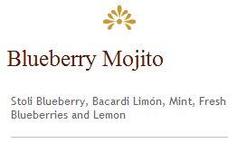 Cheesecake Factory Blueberry Mojito