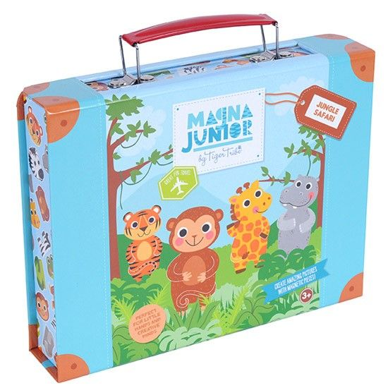 Creative AND engaging - the perfect take-anywhere toy by Tiger Tribe!  Jungle Safari Magna Play case is guaranteed to delight and entertain for hours - hours of fun packaged up in a handy carry case that can go where you go!  Perfect for trips to grandma, long flights and drives or just some play at home!  #tigertribe #childrenstoys #kidstoys #childrensgifts #christmasgifts toysforkids #tigertribe #educationaltoys #toyshoponline #littlebooteek
